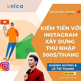 Khóa học KINH DOANH - Kiếm tiền với Instagram - Xây dựng thu nhập thụ động 500$/ tháng UNICA.VN