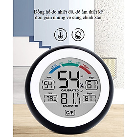 Nhiệt kế  treo tường để bàn đo nhiệt độ, độ ẩm trong phòng model 3305F - Giao màu ngẫu nhiên