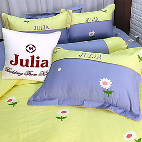 Bộ Ga Gối Cotton Lụa Hàn Quốc Julia 217BK18-1m8 x 2m