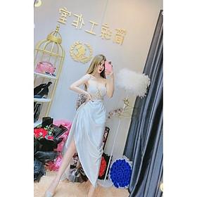 Đầm body dự tiệc kết đá TRIPBLE T DRESS -Size M/L (kèm ảnh/video thật )MS313V