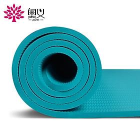 Authentic yoga mat TPE environmental protection 183*80cm widened media line fitness mat (gift strap + net bag) unisex 8mm thickened long non-slip sports mat elegant purple-3