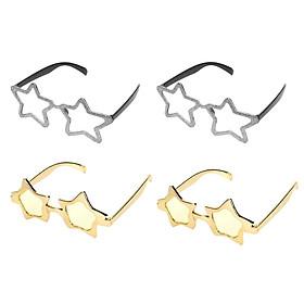4 Pieces Star Sunglasses Novelty Eyeglasses Fancy Dress Glasses Accessories
