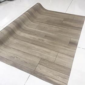 Simili trải sàn vân gỗ xám - loại nhám mờ rất đẹp