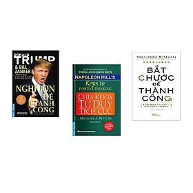 Combo 3 cuốn sách: Nghĩ Lớn Để Thành Công + Chìa Khóa Tư Duy Tích Cực + Bắt chước để thành công