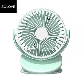 Xiaomi SOLOVE Clipping-on or Vertical Use Fan 360 Degree Wind Direction Type-C Charging 2000mAh Rechargeable Clip Fan 3-level