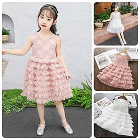 VT43Size 100-140 (12-30kg)Váy đầm xoè bé gái - Kiểu dáng công chúaThời trang trẻ Em hàng quảng châu