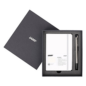 Gift Set Lamy Notebook A6 Softcover White + Lamy Logo Steel - GSA6-Lo007