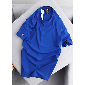 Áo Thun Nam Unisex Cotton Trơn Basic, Áo Phông Thể Thao Cổ Tròn Form Rộng Tay Lỡ Cao Cấp Big Sport