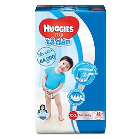 Tã Dán Huggies Dry Gói Cực Đại XXL56 (56 Miếng) - Bao Bì Mới-0