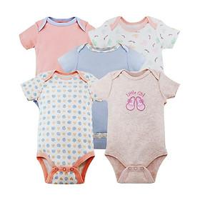 Set 5 bộ body tam giác cho bé gái 12 tháng