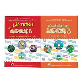 Combo 2 sách Lập trình với Scratch 3 và Bài tập Nâng cao Scratch 3
