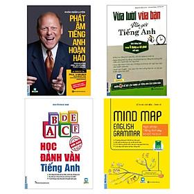 Combo Vừa Lười Vừa Bận Vẫn Giỏi Tiếng Anh + Mind Map English Grammar + Khóa Huấn Luyện Phát Âm Tiếng Anh Hoàn Hảo + Học Đánh Vần Tiếng Anh (Bộ 4 Cuốn)