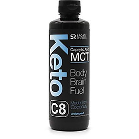 Premium MCT Oil containing only c8 Caprylic Acid | Brain & Body Fuel Made Exclusively from Organic Coconuts | Keto & Paleo Diet Friendly, Gluten & Dairy Free (16oz Bottle)