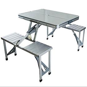 Bộ bàn ghế xếp dã ngoại khung nhôm