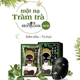 Hộp 20 Miếng Mặt Nạ Tràm Trà Kiểm Soát Dầu Và Mụn SEXYLOOK Tea Tree Anti Blemish Black Facial Mask