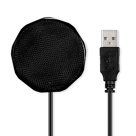 USB Condenser Microphone Omnidirectional Desktop Computer Mic 360° Sound Pickup for Conference Voice Chat Remote