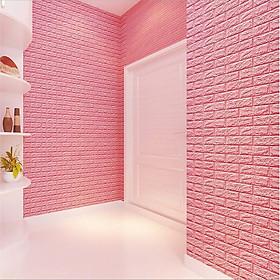 BỘ 50 giấy, Xốp Dán Tường 3D Cách Âm Cách Nhiệt