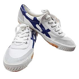 Giày Bata Thượng Đình trắng sọc xanh TĐ