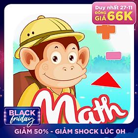 Ứng Dụng Monkey Math - Học Toán Theo Chương Trình GDPT Mới Cho Trẻ Mầm Non & Tiểu Học - Gói Trọn Đời