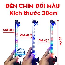 Đèn bể cá RGB CHÌM ĐỔI MÀU 3 chế độ sáng dành cho hồ cá cảnh