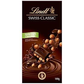 Sô cô la đen nhân hạt kinh điển Lindt 100g