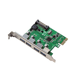 PCI-E to Four USB3.0 Ports Expansion Card Interface PCI Express Adapter Card 15PIN For Desktop PC