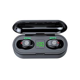 Tai Nghe Bluetooth True Wireless AMOI F9 5.0 Cảm Ứng Vân Tay, Dock Sạc có Led Báo Pin Kép - Hàng Nhập Khẩu