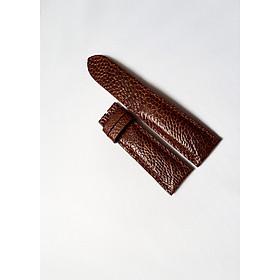 Dây đồng hồ da đà điểu 2 mặt (Màu nâu đỏ)