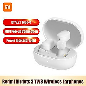 Xiaomi Redmi Airdots 3 TWS BT5.2 Wireless Earphones In-Ear Earbuds MIUI Pop-up Connection/Touch Control/Noise Reduction/IPX4