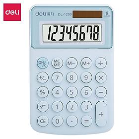 Máy tính để bàn Deli - Màn hình 8 số - Màu Xanh/Hồng - 1209A