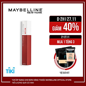 Son Kem Lì 16h Lâu Trôi Maybelline New York Super Stay Matte Ink 5ml