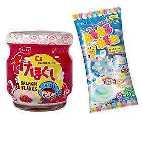 Ruốc cá hồi Meiwa vị cà chua cho bé và gia đình - Tặng 1 gói kẹo popin cookin vị soda