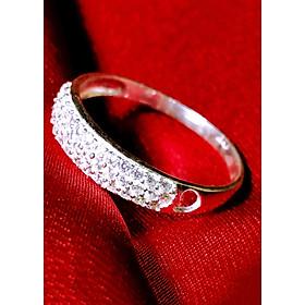 Nhẫn bạc nữ Panmila : Đính pha lê nano Ý