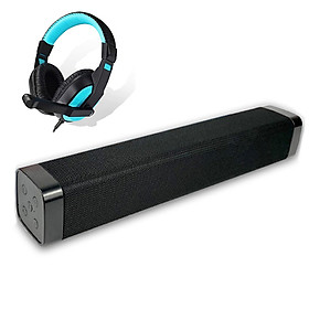 Loa Thanh Soundbar Siêu Trầm Công Suất Lớn LK22 Để Bàn Hỗ Trợ Bluetooth Dùng Cho Máy Vi Tính PC, Laptop, Tivi + Tặng tai nghe Chụp tai CT770 ( giao màu ngẫu nhiên )