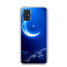 Ốp lưng điện thoại Samsung Galaxy A51 - Silicon dẻo - 0220 MOON01 - Hàng Chính Hãng
