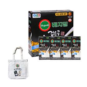 Lốc 16 hộp Sữa đậu đen, hạnh nhân và óc chó Vegemil 190ml - Tặng 1 túi vải Canvas