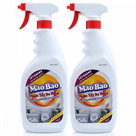 Combo 02 chai Nước Tẩy Đa Năng Mao Bao 600ml (A)