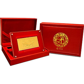 Lì xì mã đáo phủ vàng 24K - Quà tặng mỹ nghệ KBP DOJI DJDEMDTC1218