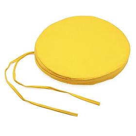 Nệm Ngồi Tròn Soft Decor 45035 Cadmium Lemon Canvas Round Seat Pad (45 x 45 x 3.5 cm) - Vàng