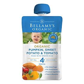 Hỗn Hợp Bí Đỏ, Khoai Lang, Cà Chua Hữu Cơ Xay Nhuyễn Bellamy's Organic
