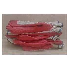 5 đôi Găng Tay Vải Lao Động, Làm Vườn, Chống Cắt, Chống Trơn Trượt, Màu Đỏ - 5 đôi Găng tay sơn đỏ !