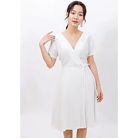 Váy đầm công sở thời trang Eden cổ tim thắt nơ eo. Kiểu dáng nữ tính, Chất liệu mềm mại, thoáng mát  - D399