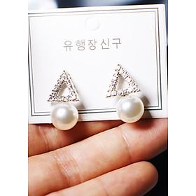 Hình đại diện sản phẩm Bông tai Hàn Quốc - Hoa tai đẹp sang chảnh - Khuyên tai đi dự tiệc, đám cưới, sinh nhật xinh xắn - Mẫu 16
