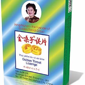 Viên ngậm ho nhập khẩu thảo dược Golden Throat Lozenge giảm đau- rát họng- cải thiện triệu chứng
