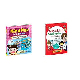 Combo 2 Cuốn sách giúp bạn học tiếng Anh nhanh hơn, hiệu quả hơn và nhớ lâu hơn: Mind Map - Sơ đồ tư duy - Các mẫu câu tiếng Anh thông dụng + Từ vựng tiếng Anh thông dụng