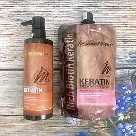 Bộ phục hồi tóc hư tổn tại nhà MASARONI Collagen Keratin cao cấp của Canada 500ml-1