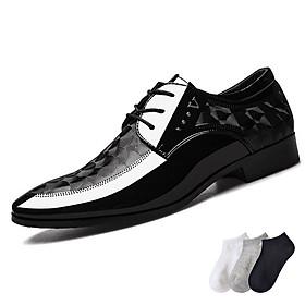Giày Tây Nam Công Sở - Họa Tiết Bắt Mắt - Đế Nâng Chiều Cao - Hàng Loại Tốt, Bền, Đẹp - Tặng Ngẫu Nhiên 1 Đôi Tất Ngắn Cổ