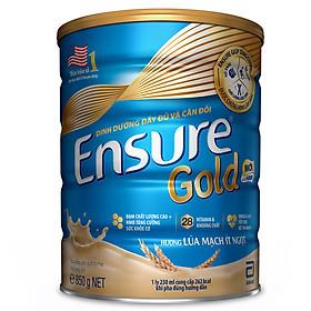 Sữa Bột Abbott Ensure Gold Hương Lúa Mạch Ít Ngọt 850g