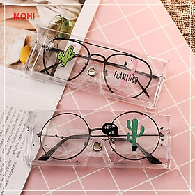 Hộp đựng kính mắt/kính cận trong suốt siêu xinh MOHI - Chính hãng