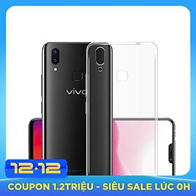 Ốp lưng silicon dẻo trong suốt dành cho Vivo V9 - Hàng cao cấp